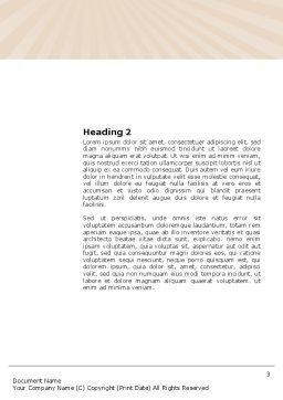 Reading Book Word Template, Second Inner Page, 03767, Education & Training — PoweredTemplate.com