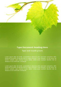Green Flora Word Template Cover Page