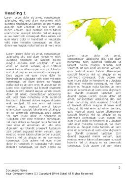 Green Flora Word Template, First Inner Page, 03769, Agriculture and Animals — PoweredTemplate.com