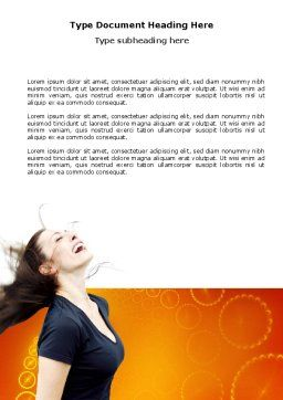 Beautiful Hair Word Template, Cover Page, 03771, People — PoweredTemplate.com