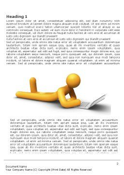 Orange Man With Laptop Word Template, First Inner Page, 03773, 3D — PoweredTemplate.com