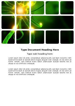 Nerve Word Template, Cover Page, 03777, Medical — PoweredTemplate.com