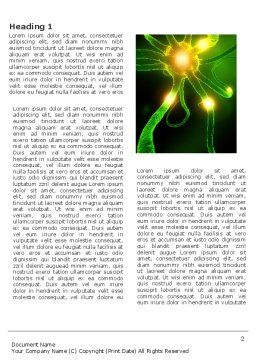 Nerve Word Template, First Inner Page, 03777, Medical — PoweredTemplate.com