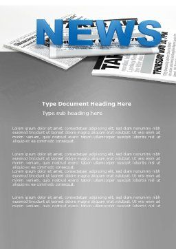 Newspaper Word Template Cover Page