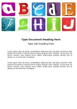 Alphabet Word Template, Cover Page, 03779, Education & Training — PoweredTemplate.com