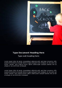School Start Word Template, Cover Page, 03780, Education & Training — PoweredTemplate.com
