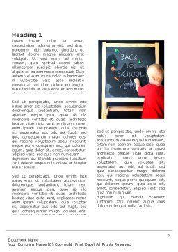 School Start Word Template, First Inner Page, 03780, Education & Training — PoweredTemplate.com