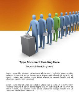 Right Of Voting Word Template, Cover Page, 03782, Holiday/Special Occasion — PoweredTemplate.com