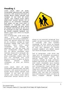 School Crossing Word Template First Inner Page