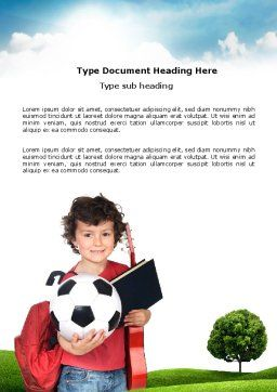 Schoolkids Summer Entertainment Word Template, Cover Page, 03785, Education & Training — PoweredTemplate.com