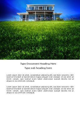 Country Ranch Word Template, Cover Page, 03786, Construction — PoweredTemplate.com