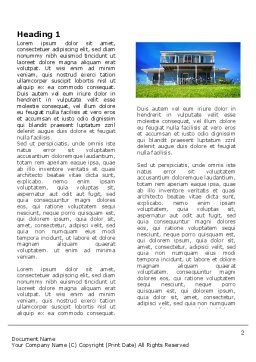 Country Ranch Word Template, First Inner Page, 03786, Construction — PoweredTemplate.com