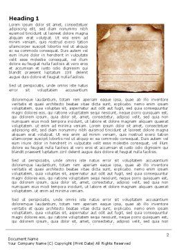 Old Paper Theme Word Template 03789 Poweredtemplate