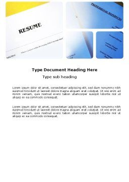 Resume Word Template, Cover Page, 03791, Careers/Industry — PoweredTemplate.com