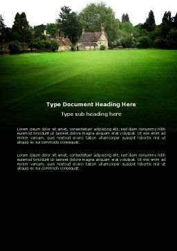 Country Estate Word Template, Cover Page, 03792, Construction — PoweredTemplate.com
