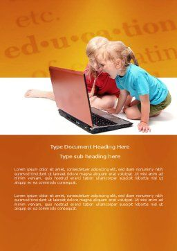 Long Distance Computer Education Word Template Cover Page