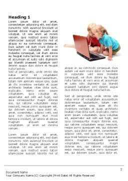 Long Distance Computer Education Word Template First Inner Page