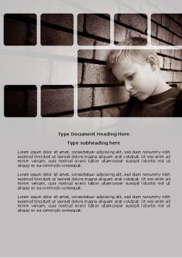 Orphanage Word Template, Cover Page, 03798, Consulting — PoweredTemplate.com