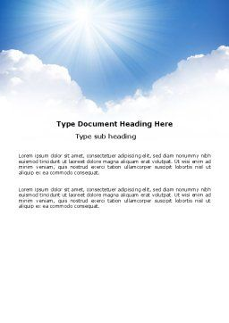 Heaven Word Template, Cover Page, 03799, Nature & Environment — PoweredTemplate.com