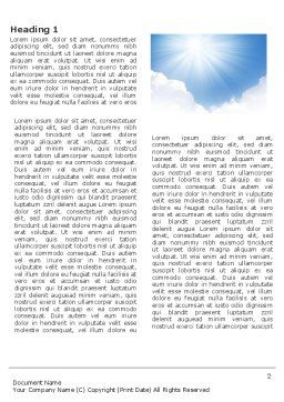Heaven Word Template, First Inner Page, 03799, Nature & Environment — PoweredTemplate.com