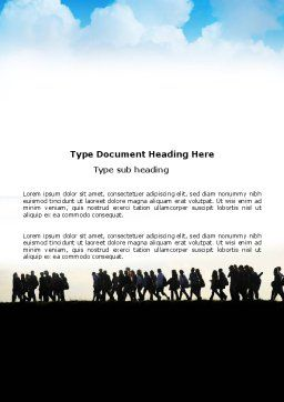 Hiking Tour Word Template Cover Page