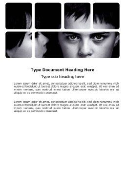 Child Psychology Word Template, Cover Page, 03802, People — PoweredTemplate.com