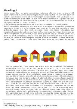 Construction Kit Word Template, First Inner Page, 03803, Education & Training — PoweredTemplate.com