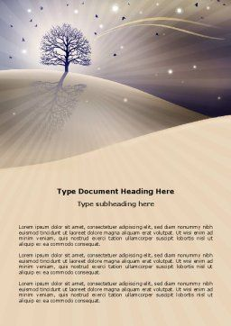 Shining Tree Word Template Cover Page