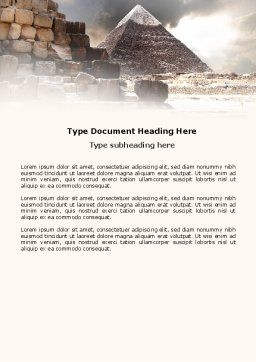 Pharaoh's Land Word Template, Cover Page, 03806, Business Concepts — PoweredTemplate.com