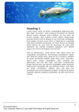Public Aquaria Word Template Second Inner Page