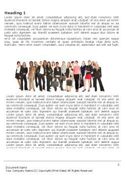 Business Ladies Word Template, First Inner Page, 03813, People — PoweredTemplate.com