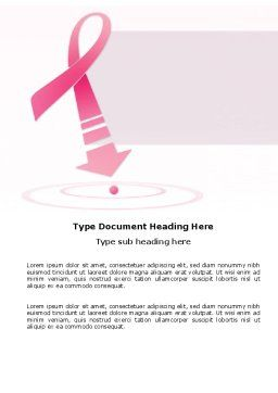 Breast Cancer Ribbon Word Template, Cover Page, 03816, Medical — PoweredTemplate.com