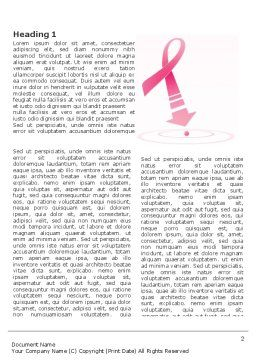 Breast Cancer Ribbon Word Template, First Inner Page, 03816, Medical — PoweredTemplate.com