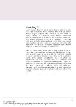 Breast Cancer Ribbon Word Template, Second Inner Page, 03816, Medical — PoweredTemplate.com