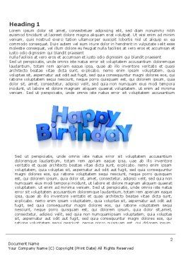 Happy Birthday Word Template, First Inner Page, 03817, Holiday/Special Occasion — PoweredTemplate.com