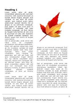 Autumn Foliage Word Template, First Inner Page, 03821, Nature & Environment — PoweredTemplate.com