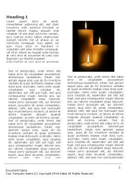 Candles Word Template First Inner Page