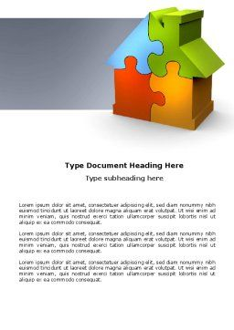 Real Estate Finance Puzzle Word Template, Cover Page, 03823, Construction — PoweredTemplate.com