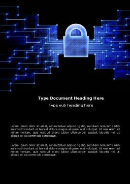 Safe Data Transfer Word Template, Cover Page, 03825, Technology, Science & Computers — PoweredTemplate.com