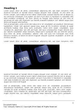 MBA Word Template, First Inner Page, 03828, Business — PoweredTemplate.com