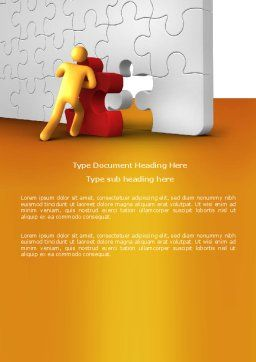 Missing Part Completing Word Template, Cover Page, 03829, Business — PoweredTemplate.com