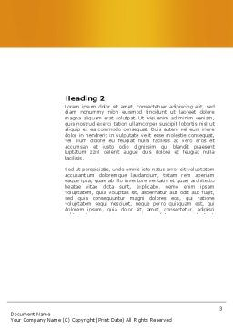 Missing Part Completing Word Template, Second Inner Page, 03829, Business — PoweredTemplate.com