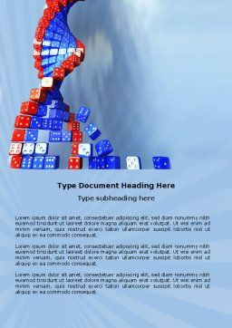 Gene Mutation Word Template, Cover Page, 03834, 3D — PoweredTemplate.com