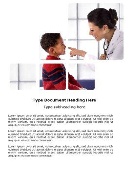 Paediatrist Word Template, Cover Page, 03835, Medical — PoweredTemplate.com