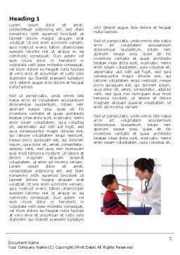 Paediatrist Word Template, First Inner Page, 03835, Medical — PoweredTemplate.com