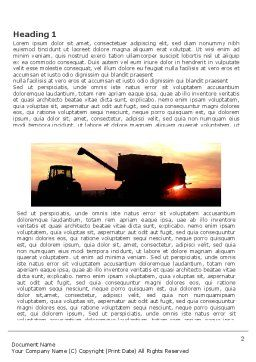 Combine Harvester Word Template First Inner Page