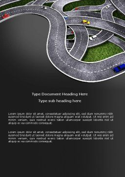Highway Junction Word Template, Cover Page, 03837, Cars/Transportation — PoweredTemplate.com