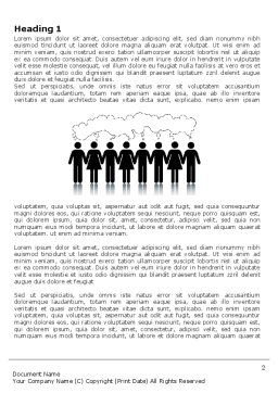 Mental Area Word Template, First Inner Page, 03839, Business Concepts — PoweredTemplate.com