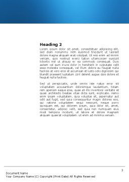 Mental Area Word Template, Second Inner Page, 03839, Business Concepts — PoweredTemplate.com