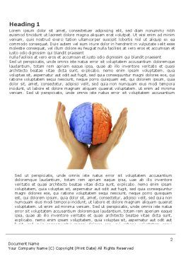 Cerebral Hemispheres Word Template, First Inner Page, 03840, Consulting — PoweredTemplate.com